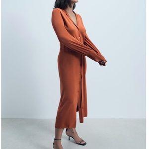 Zara Knit Shirt Dress